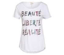 T-Shirt REAL mit Paillettenbesatz