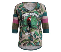 T-Shirt - grün/ hellgrün/ rosé