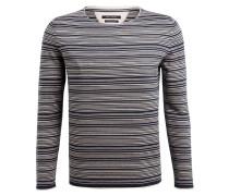 Pullover - dunkelblau/ beige gestreift