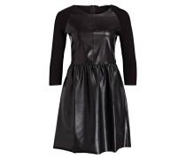 Kleid in Leder-Optik - schwarz