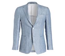 Leinen-Sakko DROP 8 Slim-Fit - blau