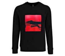 Sweatshirt - schwarz/ rot