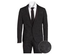 Anzug F-BOUSSAC Slim-Fit - schwarz