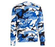 Sweatshirt - blau/ weiss/ schwarz
