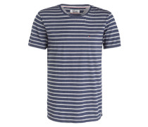 T-Shirt - blau gestreift