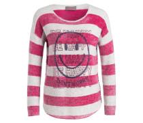 Pullover - magenta/ grau