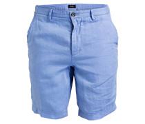 Leinen-Shorts CRIGAN Regular-Fit - blau