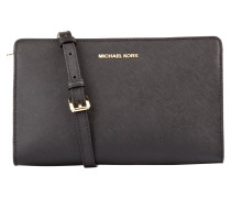Saffiano-Clutch JET SET TRAVEL - schwarz