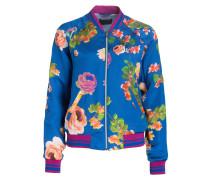 Bomberjacke - blau/ rosa/ lila