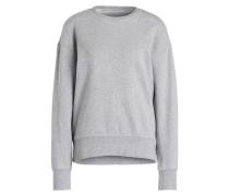 Sweatshirt mit Volant - grau meliert