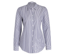 Bluse CARRY mit Patches - blau