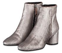 Stiefeletten - grau metallic