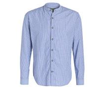 Trachtenhemd LASSE - blau/ weiss