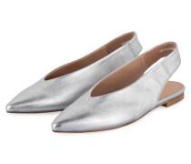 Sling-Ballerinas - silber metallic
