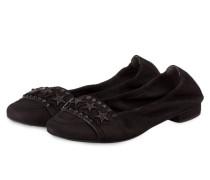 Ballerinas MALU mit Nietenbesatz - schwarz