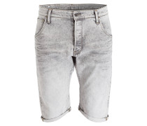 Jeans-Shorts 3301 Straight-Fit - grau