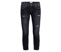 7/8-Jeans LIU mit Schmucksteinbesatz