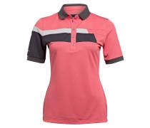 Poloshirt - koralle/ schwarz