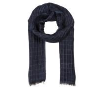 Schal mit Leinenanteil - blau