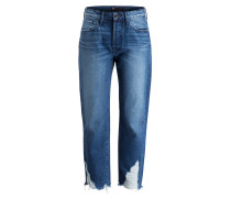 Girlfriend-Jeans HIGHER GROUND - blau