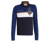 Piqué-Poloshirt - blau/ navy/ offwhite