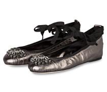 Ballerinas GRACE - anthrazit metallic