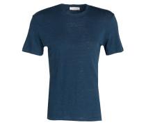 T-Shirt aus Leinen - blau