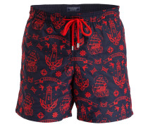 Badeshorts MISTRAL BRODERIE - navy/ rot