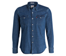 Jeanshemd Slim-Fit - blau
