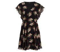 Kleid VERA - schwarz/ rosa/ grün