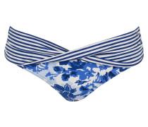 Bikini-Hose - dunkelblau/ weiss