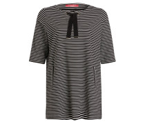 Jerseykleid - schwarz/ weiss gestreift