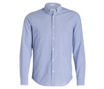 Hemd Regular-Fit - blau/ weiss gestreift