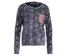 Pullover mit Cashmere-Anteil - blau