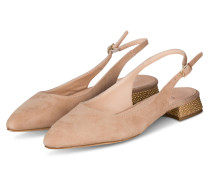 Slingpumps - NUDE/ GOLD