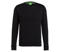 Sweatshirt SALBO mit monochromer Logo-Prägung