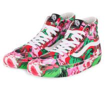 Hightop-Sneaker - ROSA/ GRÜN/ ROT
