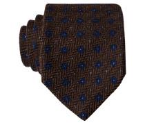 Krawatte - braun/ blau