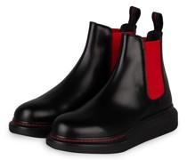 Chelsea-Boots - SCHWARZ/ ROT