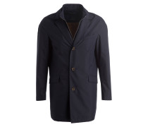 Mantel mit abnehmbarer Blende - marine