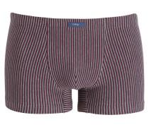 Boxershorts - rot/ grau gestreift