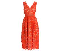 Midi-Kleid LILIAN - orange/ beige