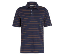 Poloshirt SOREN - marine/ orange gestreift