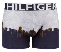 Boxershorts - blau/ grau