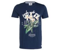 T-Shirt FAMILY FLORAL - navy/grün/creme