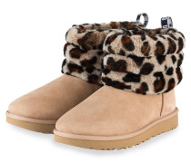 Boots FLUFF MINI QUILTED - BEIGE/ BRAUN