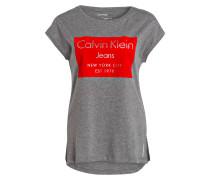 T-Shirt TIKA - grau/ rot