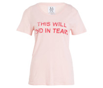 T-Shirt THIS WILL END IN TEARS - rosa/ rot