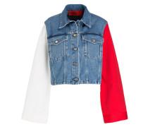 Jeansjacke - blau/ weiss/ rot