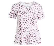 T-Shirt - weiss/ burgunder